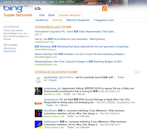 Bing Suche