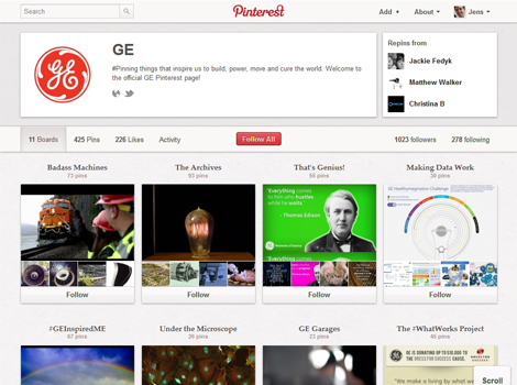GE Pinterest B2B