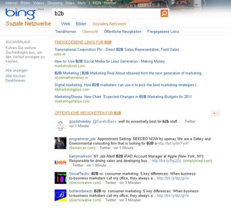 Bing Suche
