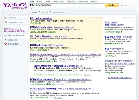 Yahoo Suche