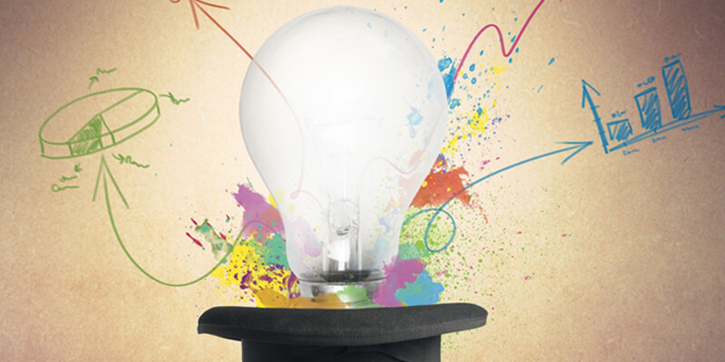 Zauber von kreative Ideen im B2B