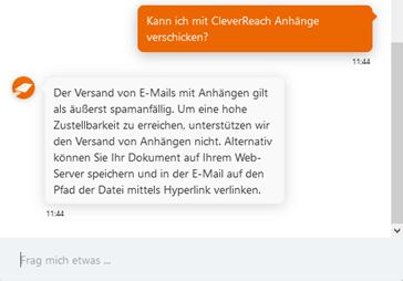 Cleverreach Chatbot für FAQs